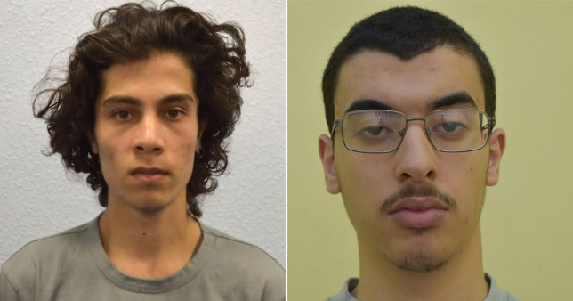 Manchester Arena attacker Hashem Abedi (R) and Parsons Green bomber Ahmed Hassan (L)