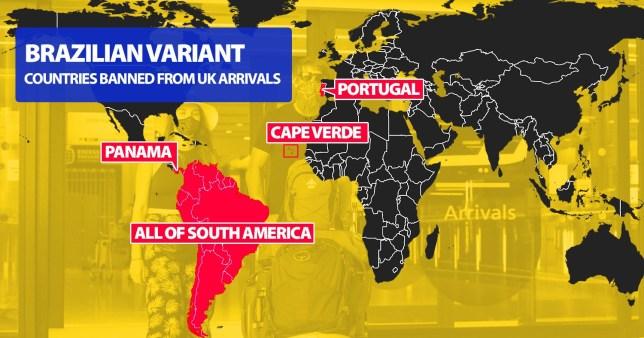 UK travel ban on South America