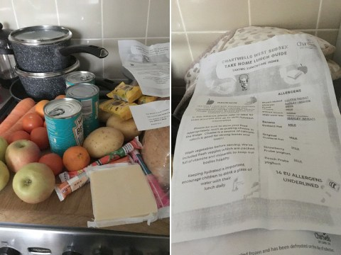Mum says 'little difference' in topped-up food parcels after free school meals row
