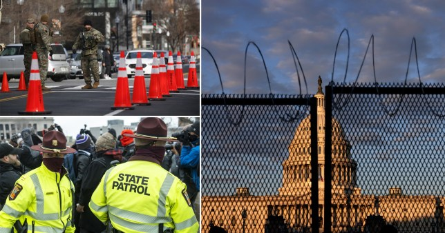 Authorities preparing for potential violence at Joe Biden inauguration ceremony.