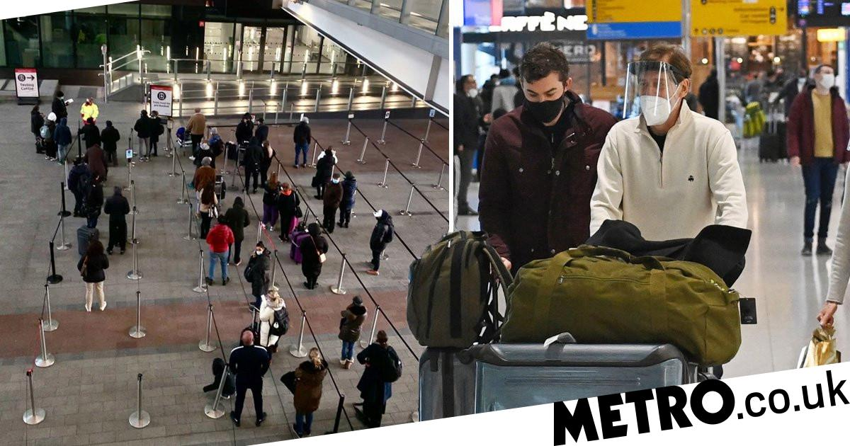 High risk UK arrivals 'to be quarantined in hotel for ten days' - metro