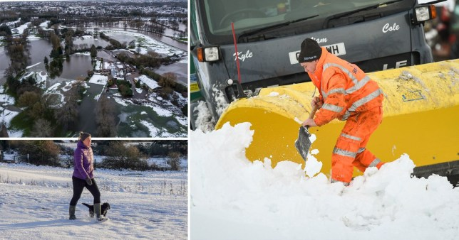 Temperatures to plunge to -10C as UK recovers from Storm Christoph floods