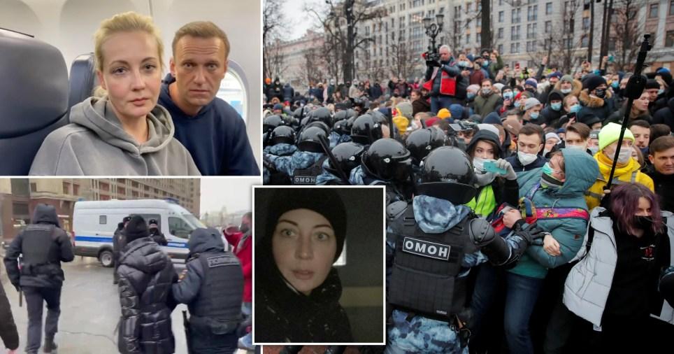 Yulia Navalny faisait partie des personnes arrêtées lors de manifestations appelant à la libération de son mari, Alexei