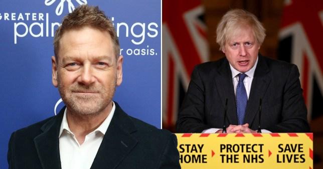 Sir Kenneth Branagh and Prime Minister Boris Johnson