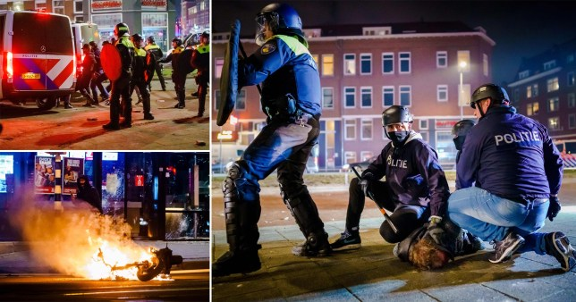 Hundreds arrested as anti-curfew riots spread across the Netherlands