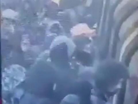 Huge crowds seen boarding Tube trains despite Covid lockdown