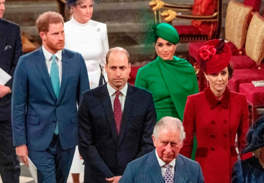 Prince Harry, Meghan, The Duke and Duchess of Cambridge and Prince Charles