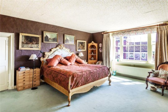 One of the bedrooms in the house once owned by Mary Shelley's rich uncle-in-law