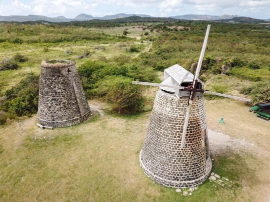 M6C1N1 Windmill at Betty's Hope Historic Sugar Plantation, Antigua