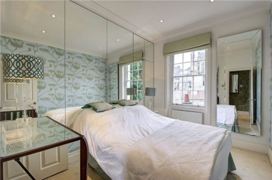 bedroom in flat formerly owned by Sean Connery