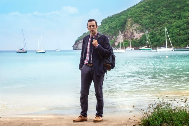 Ralf Little as DI Neville Parker in Death in Paradise