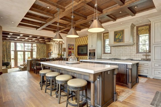 the kitchen in the calgary mansion