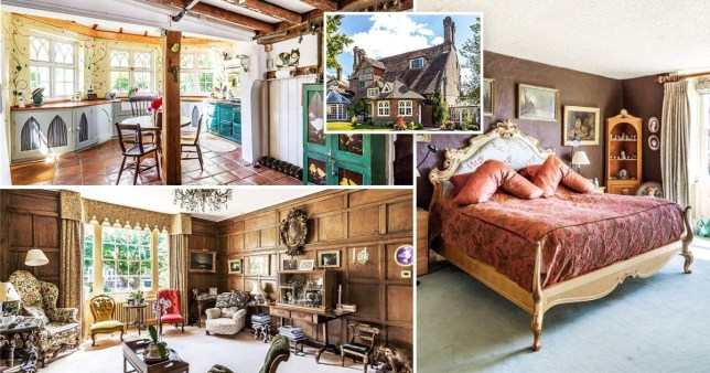 a comp of pictures of the luxurious manor house once owned by Mary Shelley's rich uncle-in-law