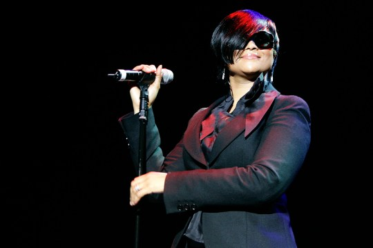 LONDON - NOVEMBER 06: British soul singer Gabrielle performs live on stage at the Hammersmith Apollo on November 6, 2008 in London, England. (Photo by Simone Joyner/Getty Images)