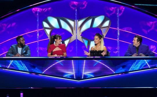 The Masked Singer judges Rita Ora, Davina McCall, Mo Gilligan and Jonathan Ross