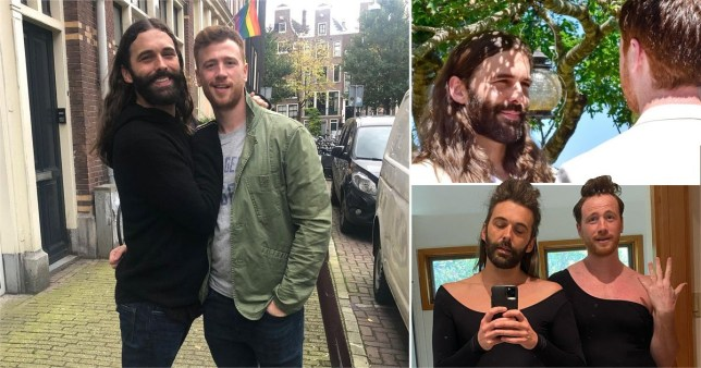 Jonathan Van Ness pictured with husband Mark Peacock