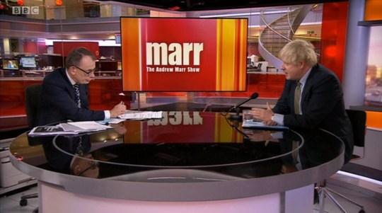 Boris Johnson - The Andrew Marr Show