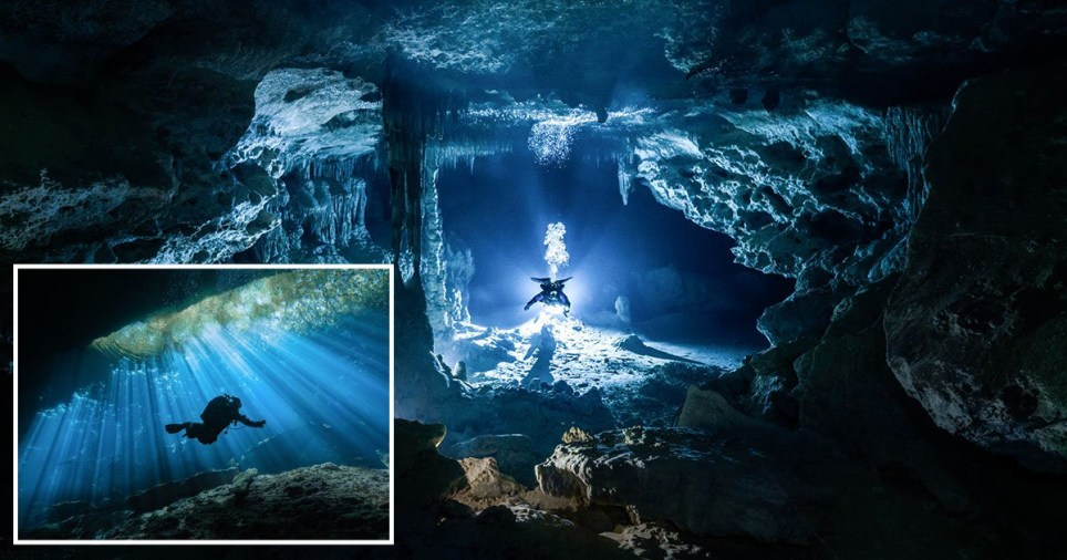 Petr Polách's pictures of the Yucatan caves