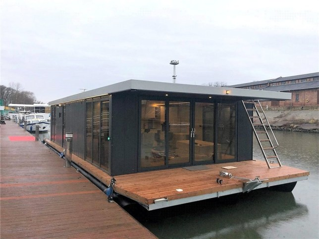 brighton waterlodge floating home up for sale