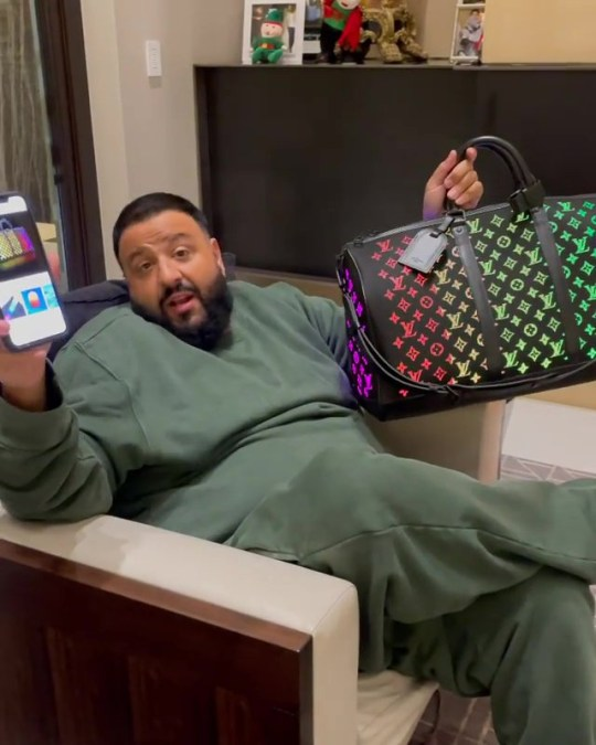 DJ Khaled's wife gifts him a color changing Louis Vuitton bag