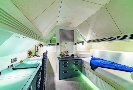 another bedroom in luxury houseboat for sale