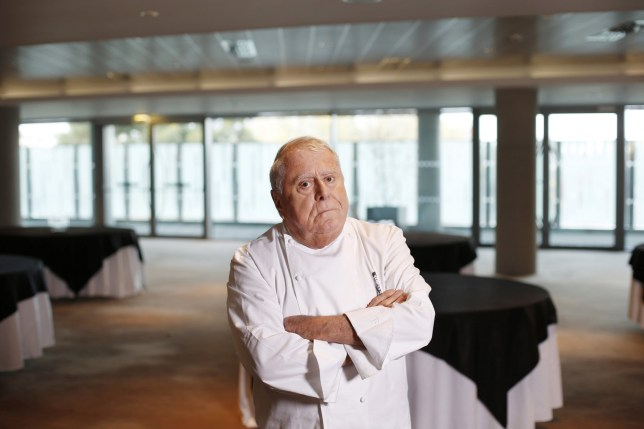 Mandatory Credit: Photo by Marc O'sullivan/REX (3428832g) Albert Roux in the Aviva Stadium restaurant Chef Albert Roux, Dublin, Ireland - 14 Nov 2013 Chef Albert Roux photographed in the Aviva Stadium.