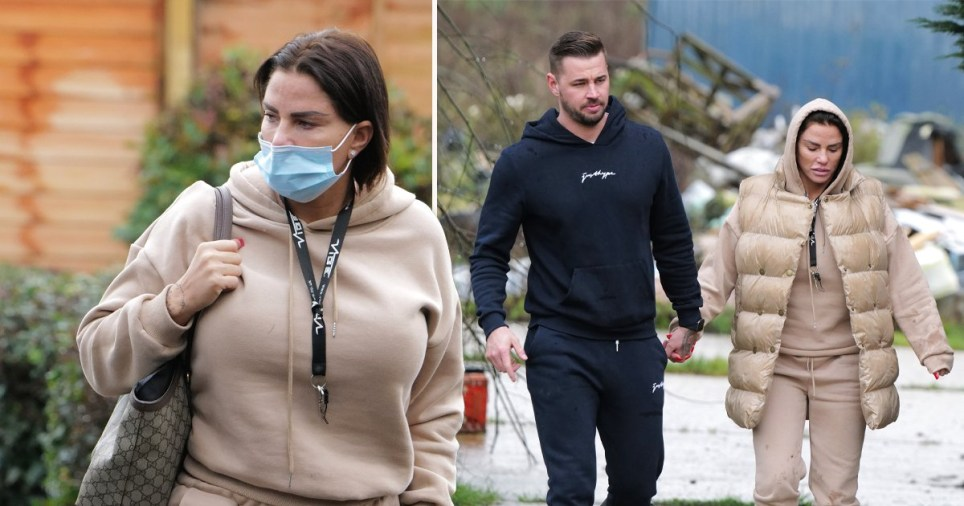 Katie Price and Carl Woods spotted as she reveals new haircut
