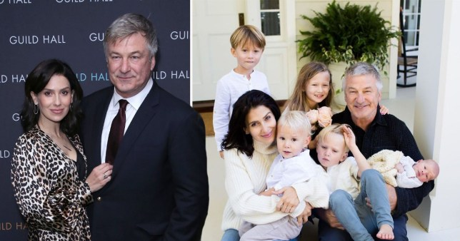 Alec Baldwin and wife Hilaria with their children