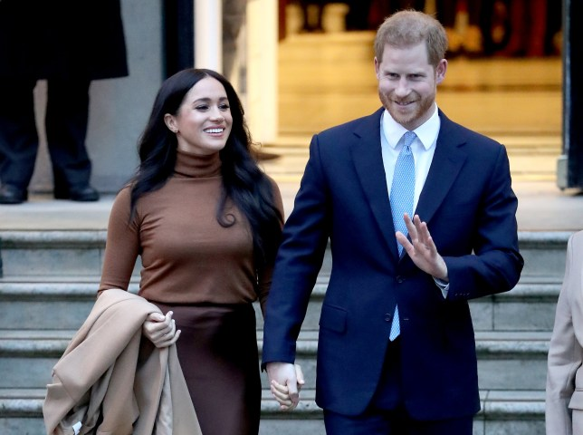 The couple leaving Canada House on January 7, 2020 in London