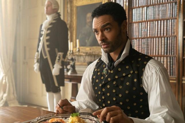 Rege-Jean Page as Simon Basset in Bridgerton.