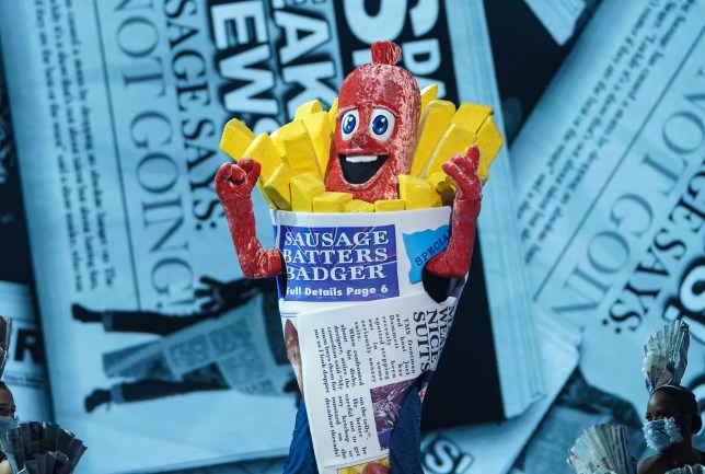 Sausage on The Masked Singer UK