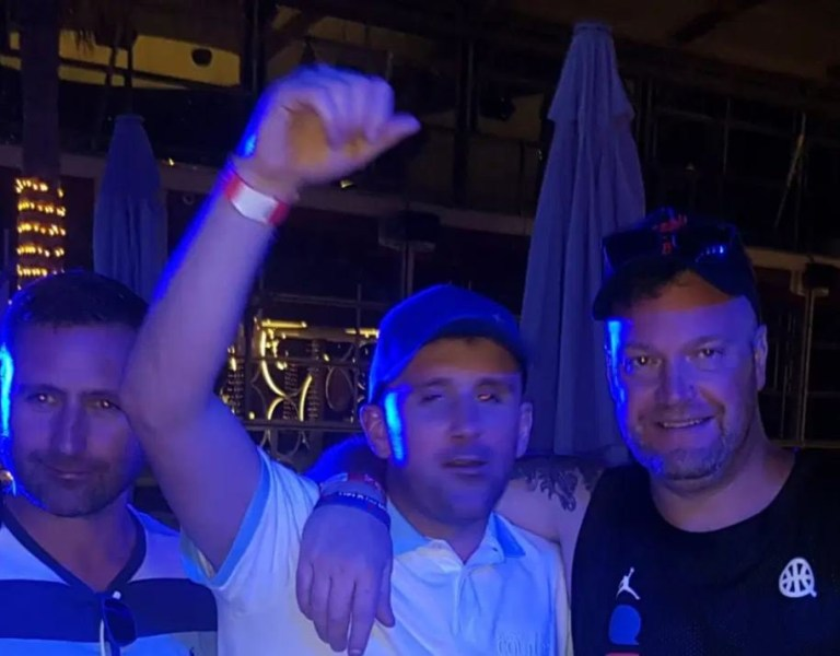 EuroMillions winner Ryan Hoyle parties with his friends in Dubai
