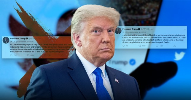 Twitter plays whack-a-mole with Trump as he uses other accounts following ban