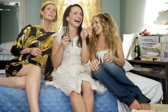 Sarah Jessica Parker, Kristin Davis and Cynthia Nixon in Sex And The City