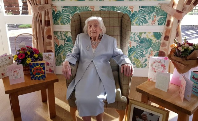 Polly celebrated her 106th birthday by beating Covid - and showered with cards and gifts. See SWNS story SWLEbirthday; A woman who survived two world wars and lived through two pandemics has celebrated her 106th birthday in style -- by beating Covid. Sprightly Mary Nicholson said the secret to a long life is drinking full fat milk, cream and butter as well as enjoying a ?tipple of whiskey at night?. She tested positive for the killer virus on New Year?s Eve but said she felt ?healthier than ever? after overcoming the virus in time for her birthday on Tuesday (Jan 12). The fiercely independent centenarian, who is nicknamed ?Polly?, said it was a ?lovely sensation? to be out of isolation and to find so many cards and presents waiting for her. Staff at the Elizabeth Court Care Home in St Helen?s, Merseyside, sang her a birthday song and presented the resilient woman with a cake in a joyous celebration. Sadly, due to Covid restrictions, she was unable to see her family but she said that she was looking forward to celebrating with them once ?all this Covid is done?. Polly, who never married or had kids, said: ?It?s a big birthday, it?s a big one 106.
