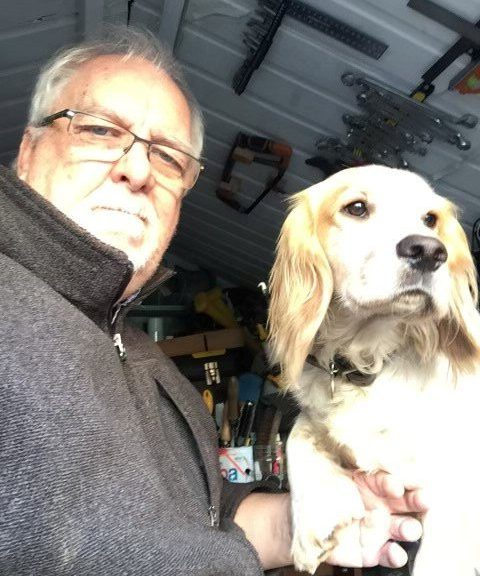 Mike Jasper and his dog Ted.
