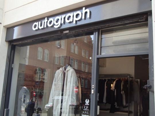Autograph Menswear Birmingham shop