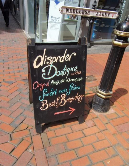 Disorder Boutique Birmingham