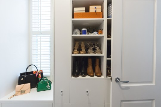 SAVVY STORAGE Shelving detail in a luxury walk in wardrobe