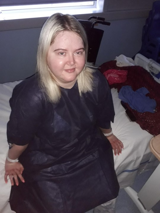 Aisling in hospital in March 2019 (PA Real Life/Collect)