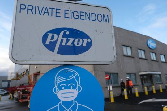 epa08939349 (FILE) - Exterior view of the Pfizer production site in Puurs near Antwerp, Belgium, 22 December 2020. Pfizer Puurs is one of the largest production units in the world (reissued 15 January 2021). Pfizer on 15 January 2021 informed the European Union, which in turn informed the member states, that its Covid-19 vaccine deliveries may be delayed due to construction works at production site in Puurs. The construction works are aimed at increasing the vaccine production capacity as of mid-February 2021. All countries, with exception of USA, are delivered the vaccine from the Puurs plant. EPA/OLIVIER HOSLET