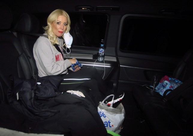 Denise Van Outen leaves Dancing on Ice studio