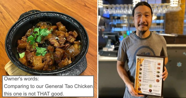 credit: Cuisine AuntDai - Chinese restaurant goes viral for incredibly honest menu descriptions
