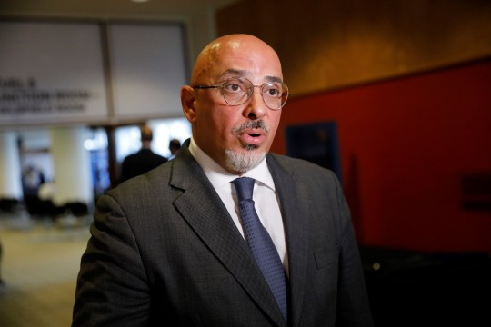 Conservative MP Nadhim Zahawi speaks to the press on the sidelines of Dominic Raab's leadership campaign launch in London on June 10, 2019. - Around a dozen British Conservative MPs will formally throw their hats into the ring on Monday in the fight to replace Theresa May as party leader and Prime Minister, with her former foreign secretary Boris Johnson seen as the runaway favourite. (Photo by Tolga AKMEN / AFP) (Photo credit should read TOLGA AKMEN/AFP via Getty Images)