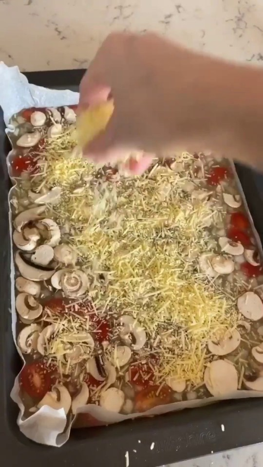 before the frittata goes in the oven