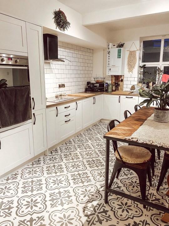 Rachel Marston's kitchen after its DIY makeover