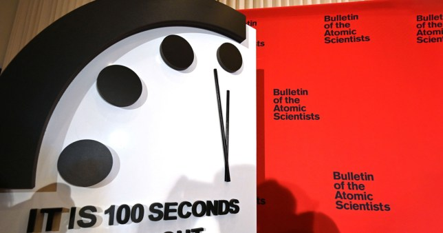 The first unveiling of the Doomsday Clock since the pandemic started (