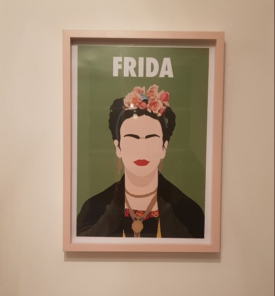 What I Rent: Adam, £450 a month for a two-bedroom flat in shrewsbury - frida kahlo print hanging on wall