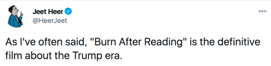 Burn After Reading tweets