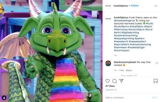 dragon masked singer instagram
